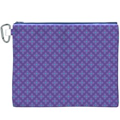 Abstract Purple Pattern Background Canvas Cosmetic Bag (XXXL)