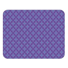 Abstract Purple Pattern Background Double Sided Flano Blanket (Large)