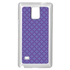 Abstract Purple Pattern Background Samsung Galaxy Note 4 Case (White)