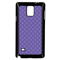 Abstract Purple Pattern Background Samsung Galaxy Note 4 Case (Black)