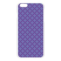 Abstract Purple Pattern Background Apple Seamless iPhone 6 Plus/6S Plus Case (Transparent)