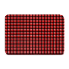 Red Plaid Plate Mats