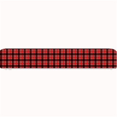 Red Plaid Small Bar Mats