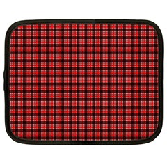 Red Plaid Netbook Case (Large)