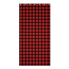 Red Plaid Shower Curtain 36  x 72  (Stall)