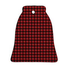 Red Plaid Bell Ornament (Two Sides)