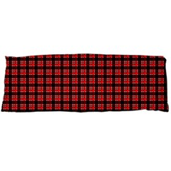 Red Plaid Body Pillow Case Dakimakura (Two Sides)