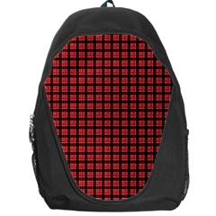 Red Plaid Backpack Bag
