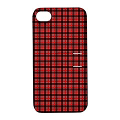 Red Plaid Apple iPhone 4/4S Hardshell Case with Stand