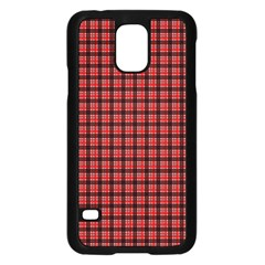 Red Plaid Samsung Galaxy S5 Case (Black)