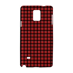 Red Plaid Samsung Galaxy Note 4 Hardshell Case