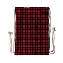 Red Plaid Drawstring Bag (Small)