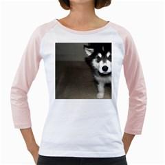 Alaskan Malamute Pup 3 Girly Raglans