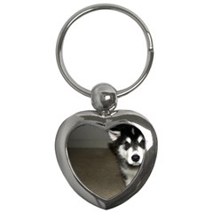 Alaskan Malamute Pup 3 Key Chains (Heart)