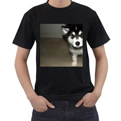 Alaskan Malamute Pup 3 Men s T-Shirt (Black) (Two Sided)