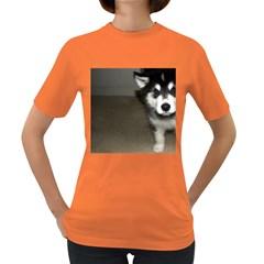Alaskan Malamute Pup 3 Women s Dark T-Shirt