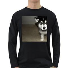 Alaskan Malamute Pup 3 Long Sleeve Dark T-Shirts