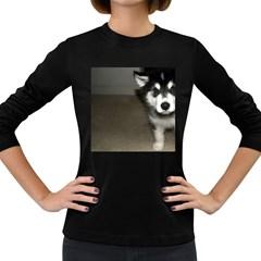 Alaskan Malamute Pup 3 Women s Long Sleeve Dark T-Shirts