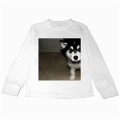 Alaskan Malamute Pup 3 Kids Long Sleeve T-Shirts