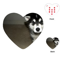 Alaskan Malamute Pup 3 Playing Cards (Heart)
