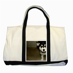 Alaskan Malamute Pup 3 Two Tone Tote Bag