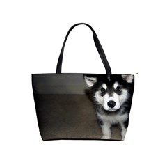 Alaskan Malamute Pup 3 Shoulder Handbags