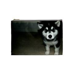 Alaskan Malamute Pup 3 Cosmetic Bag (Medium)