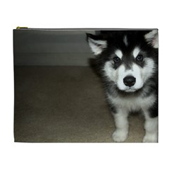 Alaskan Malamute Pup 3 Cosmetic Bag (XL)