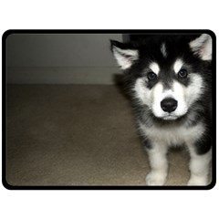 Alaskan Malamute Pup 3 Fleece Blanket (Large)