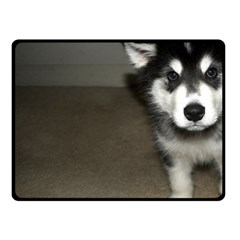 Alaskan Malamute Pup 3 Fleece Blanket (Small)