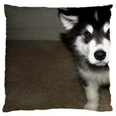 Alaskan Malamute Pup 3 Large Flano Cushion Case (One Side)