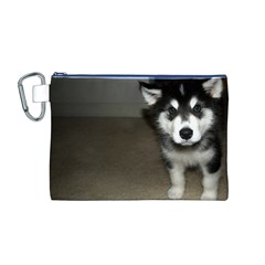 Alaskan Malamute Pup 3 Canvas Cosmetic Bag (M)
