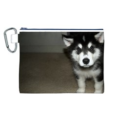 Alaskan Malamute Pup 3 Canvas Cosmetic Bag (L)