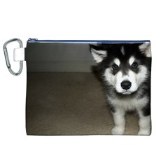 Alaskan Malamute Pup 3 Canvas Cosmetic Bag (XL)