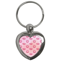 Watercolor Kisses Patterns Key Chains (Heart)