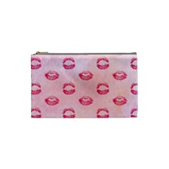 Watercolor Kisses Patterns Cosmetic Bag (Small)