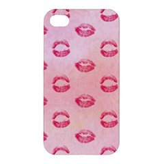 Watercolor Kisses Patterns Apple iPhone 4/4S Premium Hardshell Case