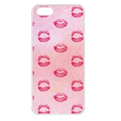 Watercolor Kisses Patterns Apple iPhone 5 Seamless Case (White)