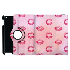 Watercolor Kisses Patterns Apple iPad 2 Flip 360 Case