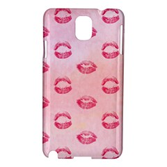 Watercolor Kisses Patterns Samsung Galaxy Note 3 N9005 Hardshell Case
