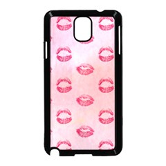 Watercolor Kisses Patterns Samsung Galaxy Note 3 Neo Hardshell Case (Black)