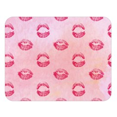 Watercolor Kisses Patterns Double Sided Flano Blanket (Large)
