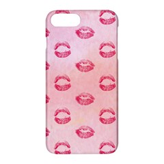 Watercolor Kisses Patterns Apple Iphone 7 Plus Hardshell Case