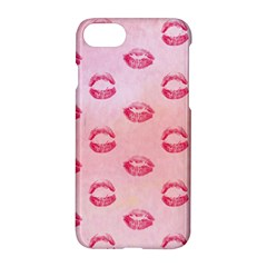 Watercolor Kisses Patterns Apple Iphone 7 Hardshell Case