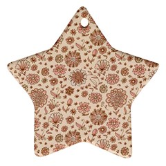 Retro Sketchy Floral Patterns Ornament (Star)
