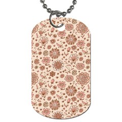 Retro Sketchy Floral Patterns Dog Tag (Two Sides)