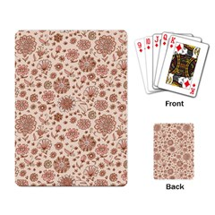 Retro Sketchy Floral Patterns Playing Card