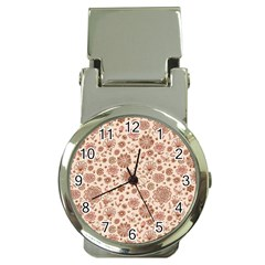 Retro Sketchy Floral Patterns Money Clip Watches