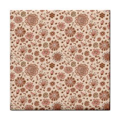 Retro Sketchy Floral Patterns Face Towel