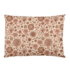 Retro Sketchy Floral Patterns Pillow Case (Two Sides)